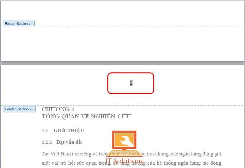 Hướng dẫn Đánh số trang từ một trang bất kỳ trên word 2007, word 2010, word2013
